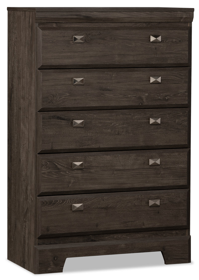 Yorkdale Grey Chest|Commode verticale Yorkdale grise