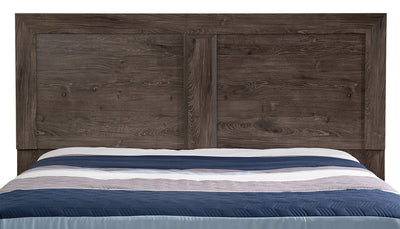 Yorkdale Grey Queen/Full Panel Headboard - {Contemporary} style Headboard in Alabaster Oak {Engineered Wood}