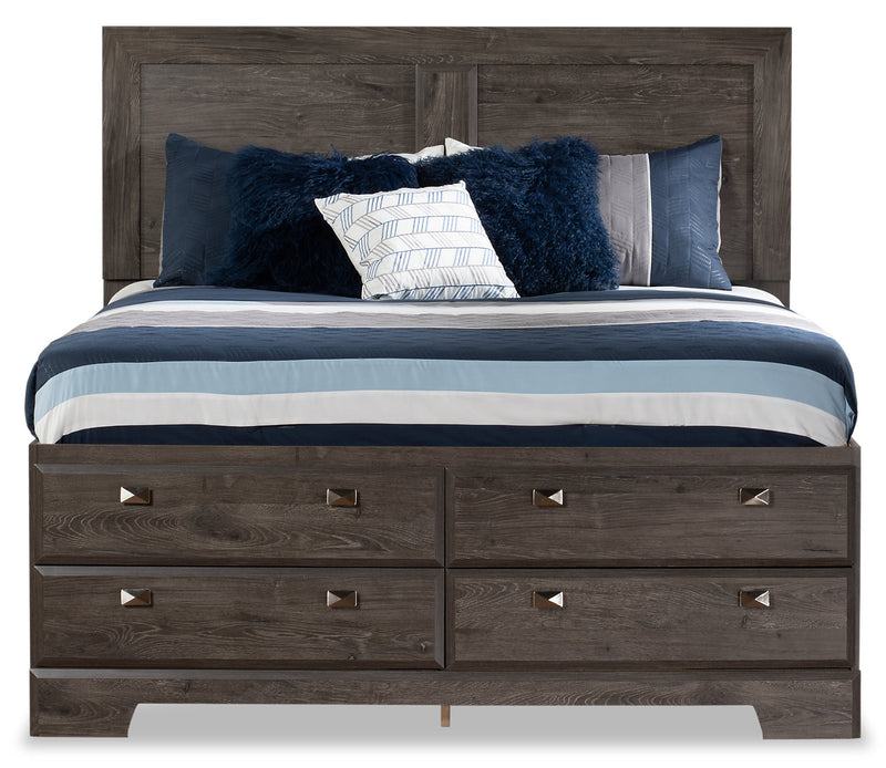 Yorkdale Grey Full Storage Bed The Brick