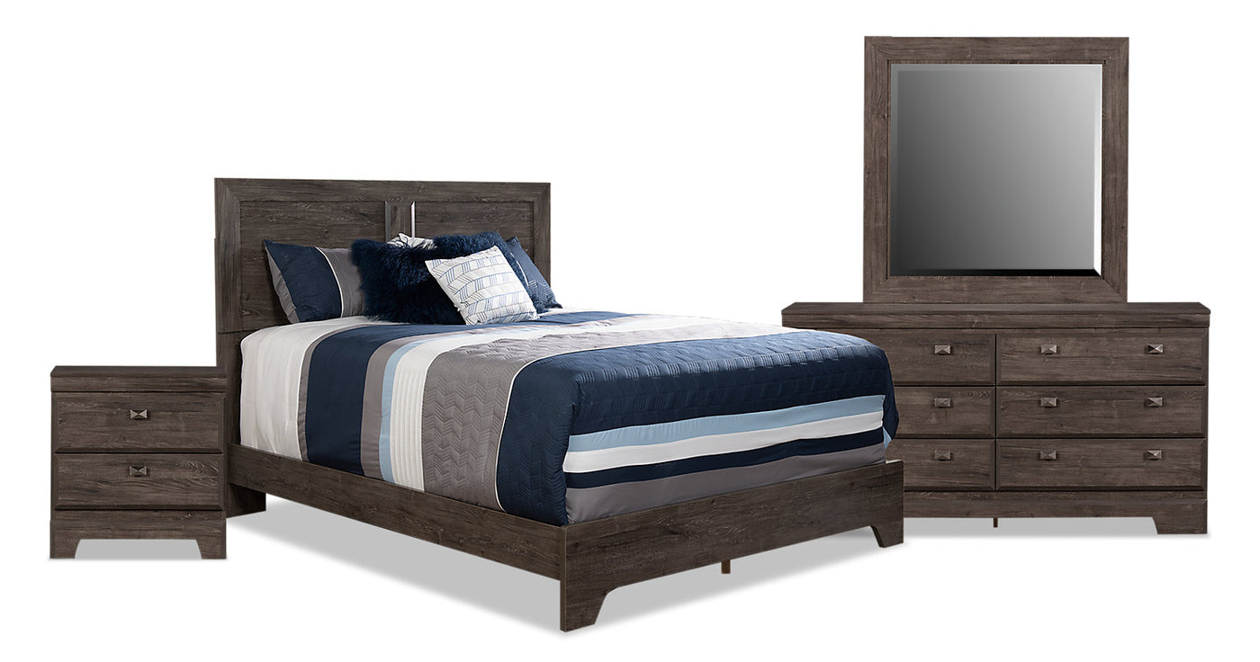 low priced 58eb4 7cd7d Yorkdale Grey 6-Piece Queen Panel Bedroom Package