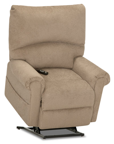 4463 Velvet Massage Power Lift Recliner - Camel - {Contemporary} style Accent Chair in Camel {Plywood}