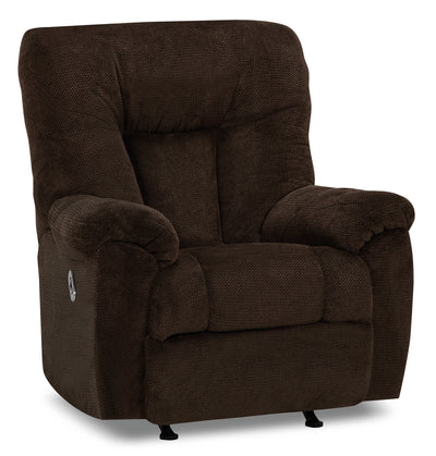 Designed2B 4703 Chenille Power Rocker Recliner with USB Port - Chocolate