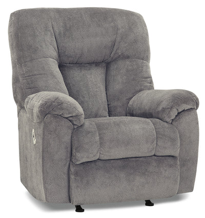 Designed2B 4703 Chenille Power Rocker Recliner with USB Port - Slate