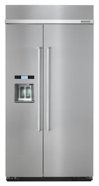 KitchenAid 25 Cu. Ft. Built-In Side-by-Side Refrigerator – KBSD612ESS