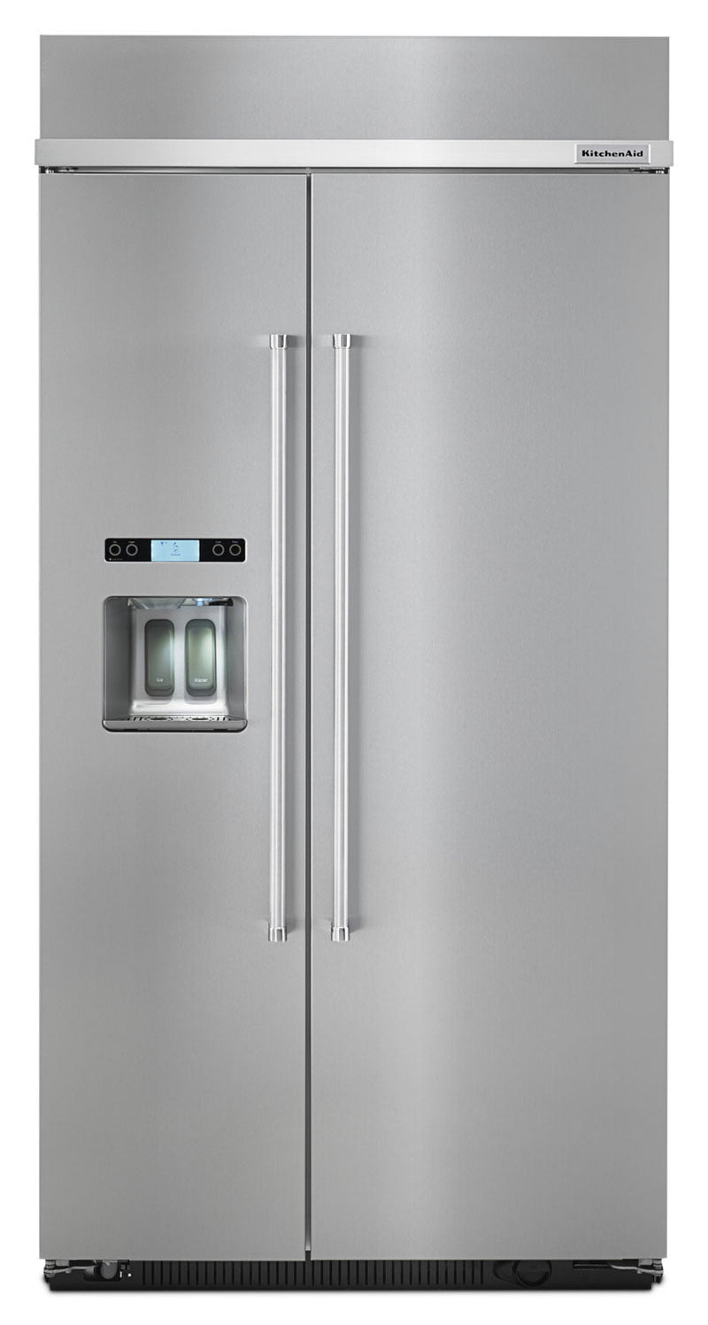 KitchenAid 25 Cu. Ft. Built-In Side-by-Side Refrigerator – KBSD612ESS|Réfrigérateur côte à côte encastré de 25 Pi. Cu. KitchenAid- KBSD612ESS