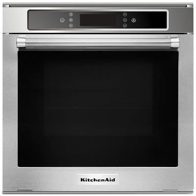 KitchenAid 24'' 2.6 Cu. Ft. Single Electric Wall Oven – KOSC104FSS|Four mural électrique simple 24 po KitchenAid de 2,6 pi3 - KOSC104FSS|KOSC104S