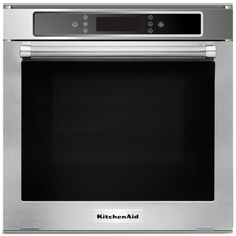 KitchenAid 24'' 2.6 Cu. Ft. Single Electric Wall Oven – KOSC104FSS|Four mural électrique simple 24 po KitchenAid de 2,6 pi3 - KOSC104FSS