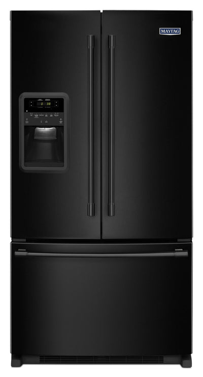 Maytag 22 Cu. Ft. French-Door Refrigerator – MFI2269FRB - Refrigerator with Exterior Water/Ice Dispenser in Black