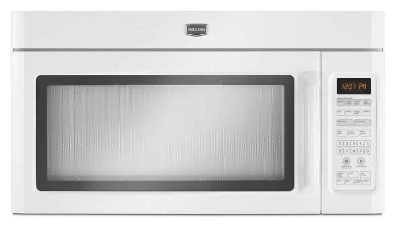 Maytag 2.0 Cu. Ft. Over-the-Range Microwave with Interior Cooking Rack – YMMV4206FW|Four à micro-ondes à hotte intégrée Maytag de 2,0 pi³ avec grille de cuisson interne - YMMV4206FW