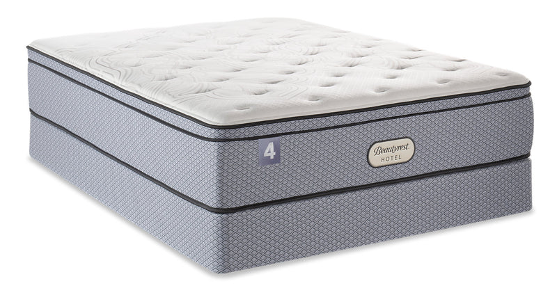 Beautyrest Hotel 4 Eurotop Low-Profile Queen Mattress Set|Ensemble matelas à Euro-plateau à profil bas BeautyRestMD Hotel 4 pour grand lit|4HOTLLQP