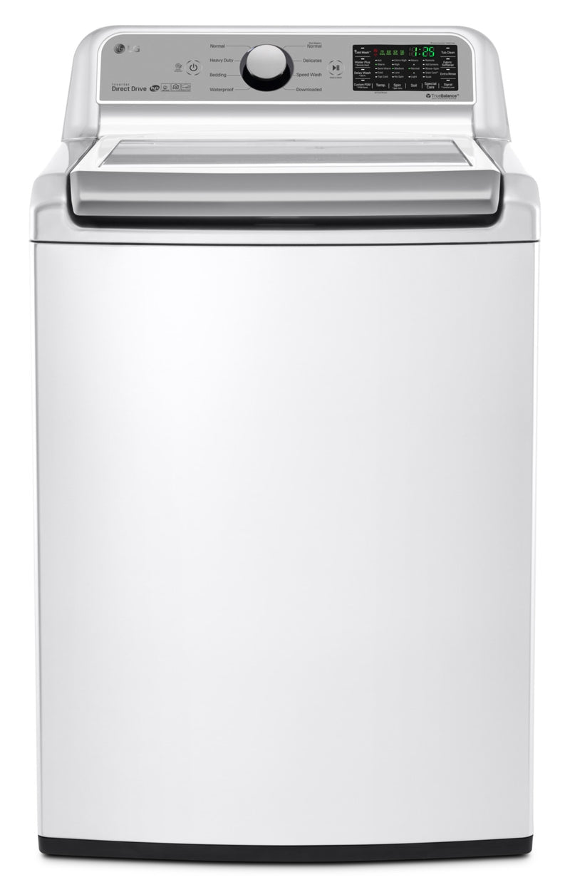 LG 5.8 Cu. Ft. Top-Load Washer with 6Motion™ Technology – WT7200CW|Laveuse LG à chargement par le haut de 5,8 pi3 avec technologie 6MotionMC – WT7200CW