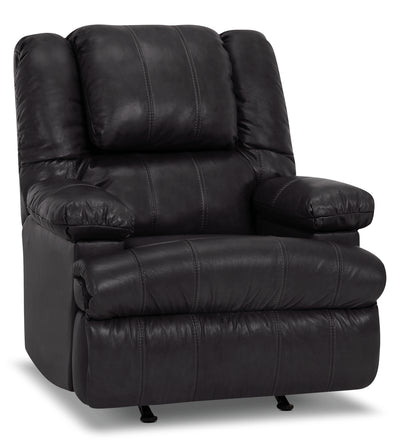 Designed2B 5598 Genuine Leather Power Massage Recliner with Storage Arm - Weston Granite
