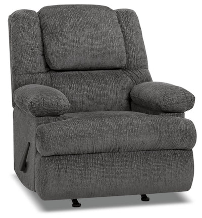 Designed2B 5598 Chenille Rocker Recliner with Storage Arms - Atlantic Graphite