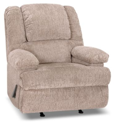 Designed2B 5598 Chenille Rocker Recliner with Storage Arms - Atlantic Sahara