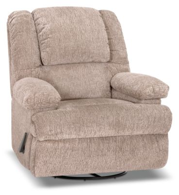 Designed2B 5598 Chenille Swivel Recliner with Storage Arms - Atlantic Sahara|Fauteuil pivotant inclinable 5598 Design à mon image en chenille avec accoudoirs rangement - sahara|5598SRAS