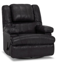 Designed2B 5598 Genuine Leather Swivel Recliner with Storage Arms - Weston Granite
