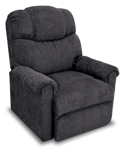 624 Chenille Power-Lift Recliner - Graphite - {Contemporary} style Chair in Graphite {Plywood}, {Solid Woods}