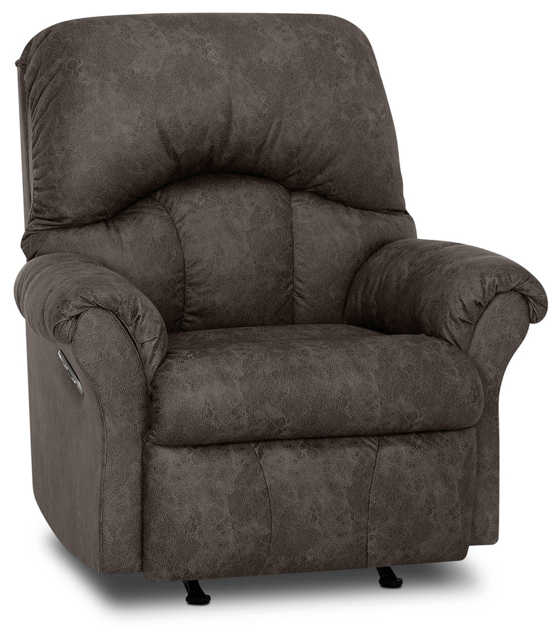 Designed2b 6734 Leather Look Fabric Power Rocker Recliner