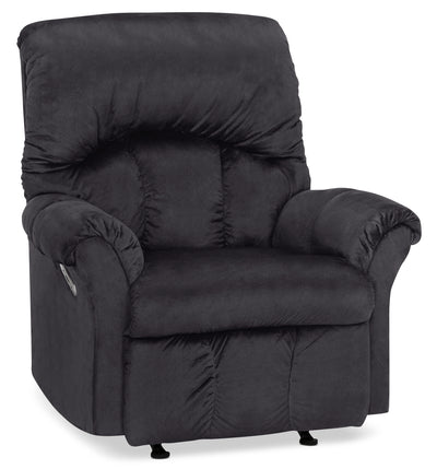 Designed2B 6734 Chenille Power Rocker Recliner - Fighter Charcoal|Fauteuil berçant à inclinaison électrique 6734 Design à mon image en chenille - anthracite battant|6734PRFC