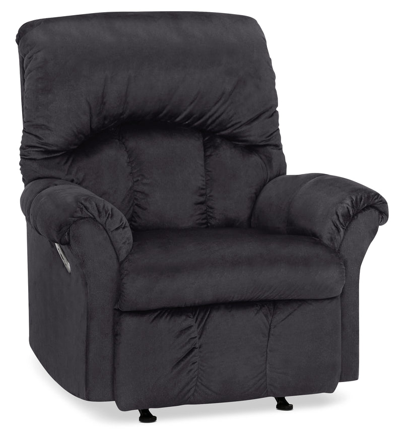Designed2B 6734 Chenille Power Rocker Recliner - Fighter Charcoal|Fauteuil berçant à inclinaison électrique 6734 Design à mon image en chenille - anthracite battant