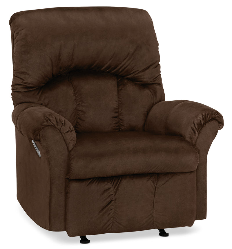 Designed2B 6734 Chenille Power Rocker Recliner - Fighter Mink|Fauteuil berçant à inclinaison électrique 6734 Design à mon image en chenille - vison battant