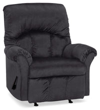Designed2B 6734 Chenille Rocker Recliner - Fighter Charcoal