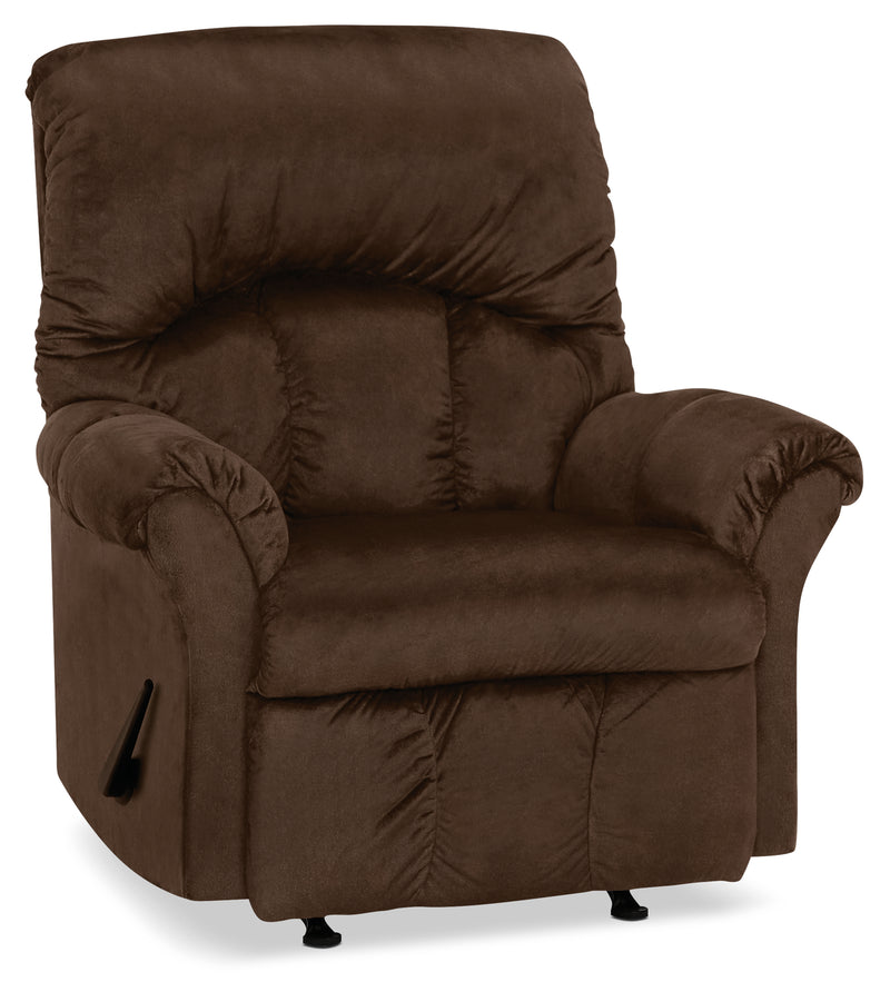 Designed2B 6734 Chenille Rocker Recliner - Fighter Mink|Fauteuil berçant inclinable 6734 Design à mon image en chenille - vison battant