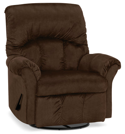 Designed2B 6734 Chenille Swivel Rocker Recliner - Fighter Mink