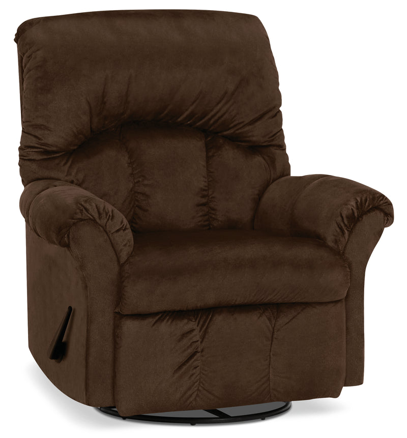 Designed2B 6734 Chenille Swivel Rocker Recliner - Fighter Mink|Fauteuil berçant pivotant inclinable 6734 Design à mon image en chenille - vison battant