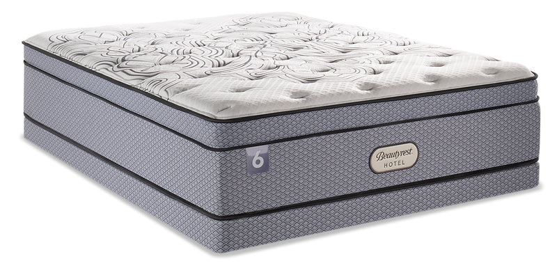 Beautyrest Hotel 6 Eurotop Low-Profile Queen Mattress Set|Ensemble matelas à Euro-plateau à profil bas BeautyRestMD Hotel 6 pour grand lit|6HOTLLQP