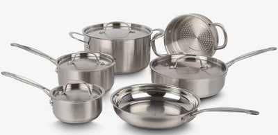 Cuisinart Classic Collection 10-Piece Stainless Steel Cookware Set - 77-10NC - Cookware Set in Stainless Steel