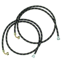 Whirlpool 6' Nylon-Braided Deluxe Washer Fill Hoses - 8212638RP