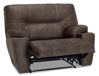 Camden Leather-Look Fabric Rocker Recliner - Mineral|Fauteuil berçant inclinable Camden en tissu d'apparence cuir - minerai|8501BRRC