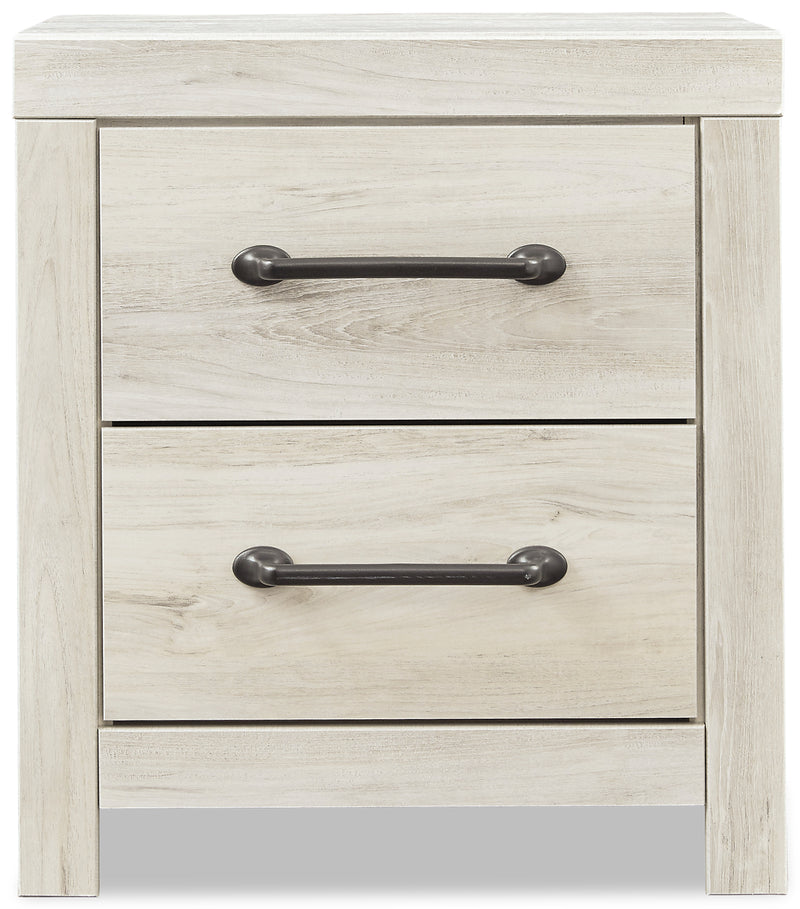 Abby Nightstand - {Rustic}, {Industrial} style Nightstand in White {Engineered Wood}