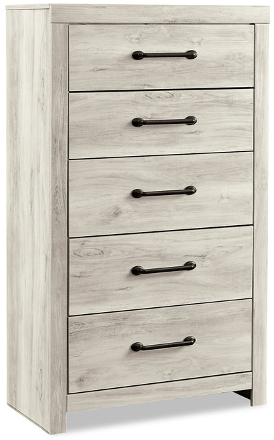 Abby Chest - {Rustic}, {Industrial} style Chest in White {Engineered Wood}