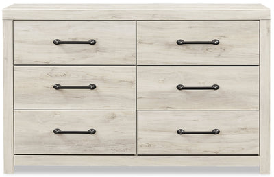Abby Dresser - {Rustic}, {Industrial} style Dresser in White {Engineered Wood}