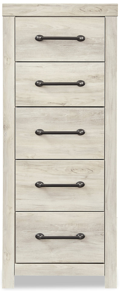 Abby Narrow Chest - {Rustic}, {Industrial} style Chest in White {Engineered Wood}