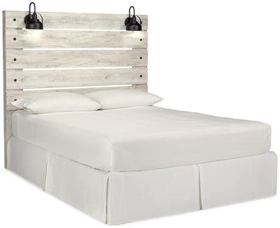 Abby Queen Panel Headboard - {Rustic}, {Industrial} style Headboard in White {Engineered Wood}