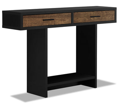 Alexis Sofa Table - Black and Brown
