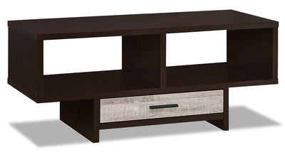 Alexis Coffee Table - Cappuccino and Taupe