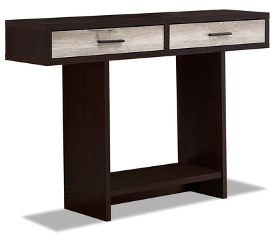 Alexis Sofa Table - Cappuccino and Taupe|Table de salon Alexis - cappuccino et taupe|ALECPSTB