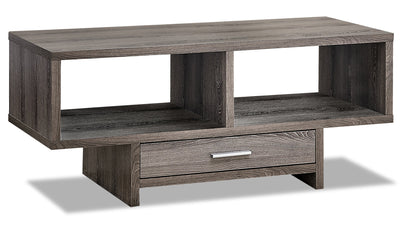 Alexis Coffee Table - Dark Taupe|Table à café Alexis - taupe foncé|ALEDTCTB