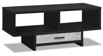 Alexis Coffee Table - Black and Grey|Table à café Alexis - noire et grise|ALEGRCTB