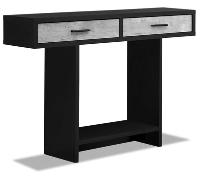 Alexis Sofa Table - Black and Grey|Table de salon Alexis - noire et grise|ALEGRSTB