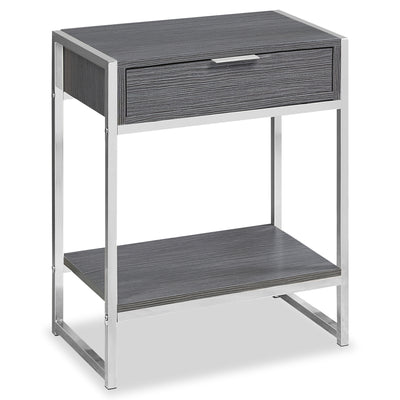 Alice Grey and Chrome Accent Table