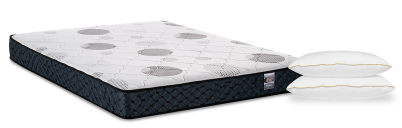 Springwall Alpine Queen Mattress with Masterguard Hollow IV 2-Piece Pillow Set|Matelas Alpine de Springwall pour grand lit avec ensemble 2 oreillers MasterguardMD Hollow IV