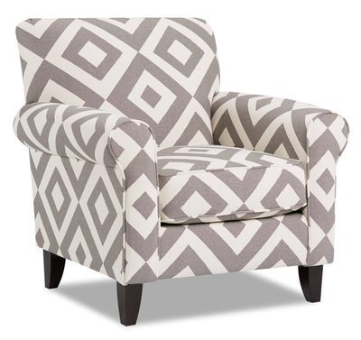 Alva Fabric Accent Chair - Square Charcoal|Fauteuil d'appoint Alva en tissu - carré anthracite|ALVASCAC