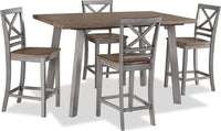 Amelia 5-Piece Counter-Height Dining Package – Grey