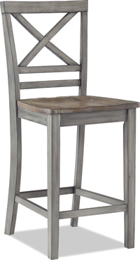 Amelia Counter-Height Dining Chair – Grey