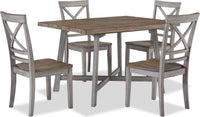 Amelia 5-Piece Dining Package – Grey